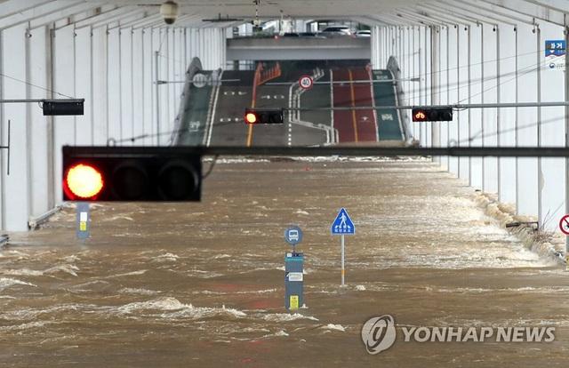 Lũ lụt kéo theo thiệt hại lớn tại Hàn Quốc - Ảnh 1.
