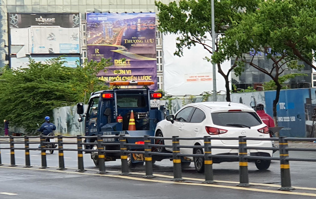 Nhiều tuyến đường ở Đà Nẵng ngập sâu, cây xanh ngã đổ - Ảnh 11.