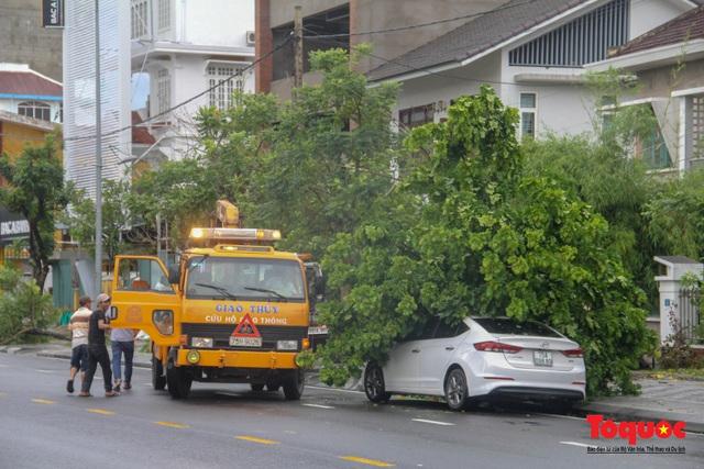 Gió to, mưa lớn, nhiều cây xanh tại TP Huế ngã đổ do bão số 5 - Ảnh 16.