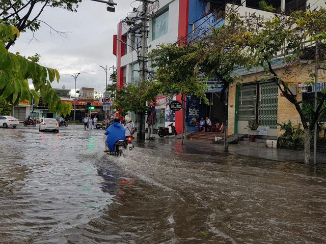 Nhiều tuyến đường ở Đà Nẵng ngập sâu, cây xanh ngã đổ - Ảnh 4.