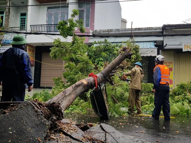Nhiều tuyến đường ở Đà Nẵng ngập sâu, cây xanh ngã đổ - Ảnh 14.