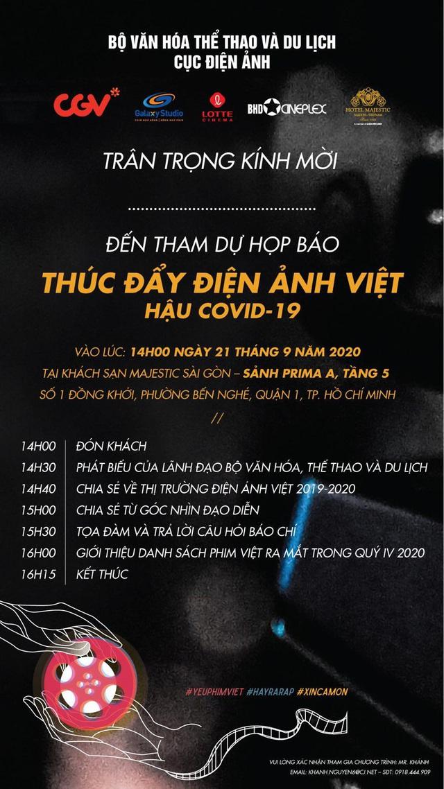 """Họp báo """"Thúc đẩy điện ảnh Việt hậu Covid-19"""" - Ảnh 1."""