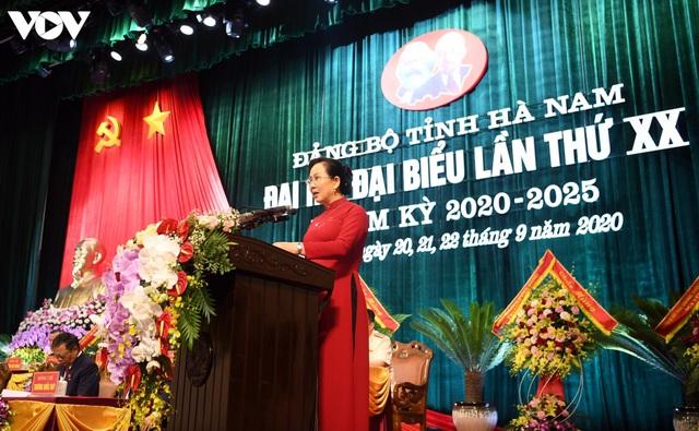 Bà Lê Thị Thủy tiếp tục được bầu làm Bí thư Tỉnh ủy Hà Nam - Ảnh 1.