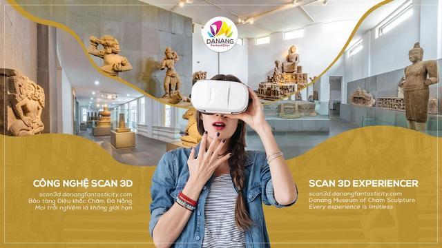 Thí điểm trải nghiệm Scan 3D tại Bảo tàng Điêu khắc Chăm Đà Nẵng - Ảnh 1.