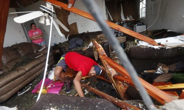 Sự tàn phá ở Panama, Florida - sau siêu bão Michael - Ảnh 7.