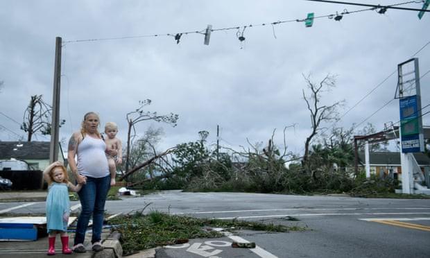 Sự tàn phá ở Panama, Florida - sau siêu bão Michael - Ảnh 1.