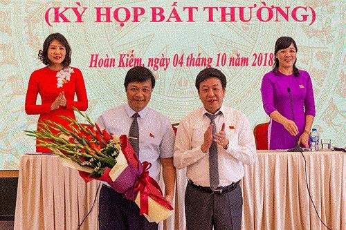 Quận Hoàn Kiếm có chủ tịch mới - Ảnh 1.