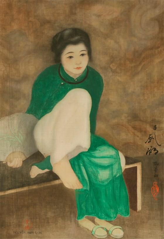 Tranh lụa của họa sĩ Việt được bán với mức giá kỷ lục gần 12 tỷ - Ảnh 1.