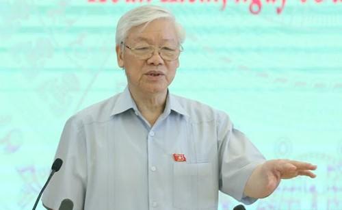 """Tổng Bí thư Nguyễn Phú Trọng: """"Đến bây giờ thì không phải nhất thể hóa, đây là tình huống"""" - Ảnh 1."""