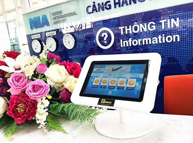 Sân bay Nội Bài thử nghiệm hệ thống nhận thông tin phản hồi điện tử - Ảnh 1.