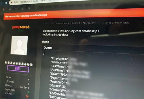 Dữ liệu Concung cùng FPT Shop đang bị hacker đe dọa - Ảnh 1.