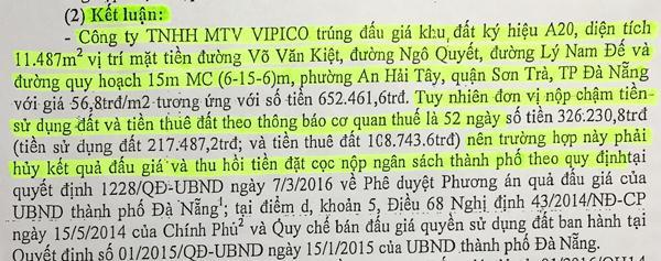 """Chủ tịch Đà Nẵng: """"Vụ VIPICO, Kiểm toán đã yêu cầu hủy kết quả đấu giá, chúng tôi không thể làm khác"""" - Ảnh 1."""