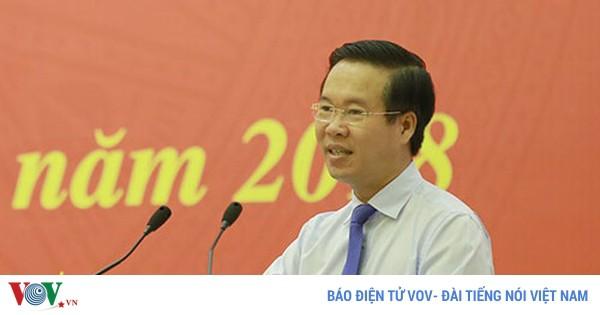 Ông Võ Văn Thưởng kiểm tra công tác phòng, chống tham nhũng tại VTV - Ảnh 1.