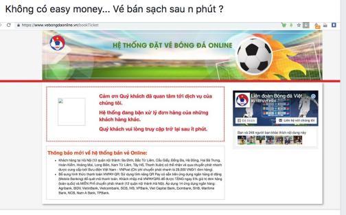 Cư dân mạng dậy sóng, rất khó mua vé online để xem trận Việt Nam vs Philippines - Ảnh 7.