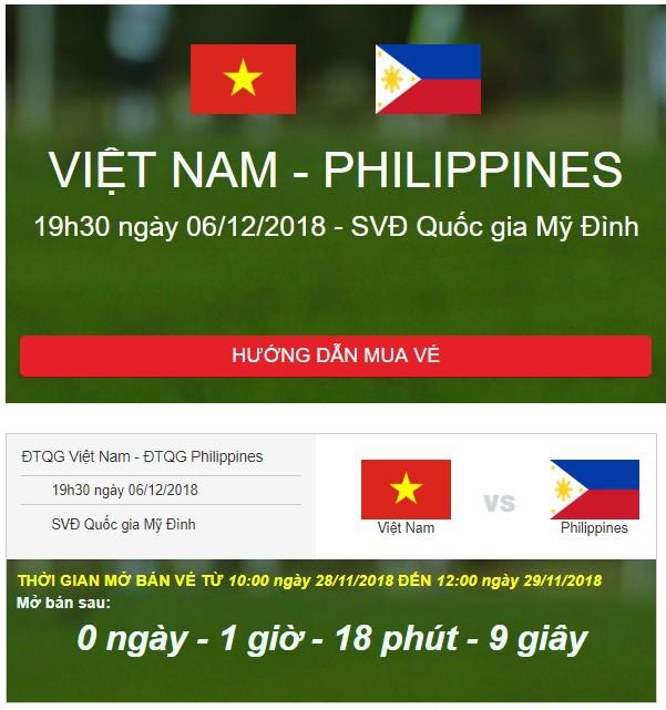 VFF đếm ngược, người hâm mộ nín thở chờ giờ mua vé xem bán kết lượt về Việt Nam vs Philippines - Ảnh 1.