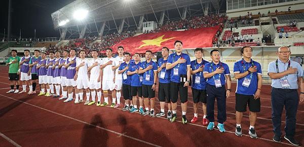 Kết thúc hiệp 1: Đội tuyển Việt Nam dẫn trước 2-0 trước Lào, Công Phượng, Anh Đức lập công - Ảnh 1.