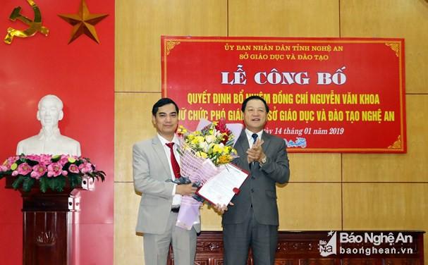 Bổ nhiệm Phó Giám đốc Sở Giáo dục và Đào tạo Nghệ An - Ảnh 1.