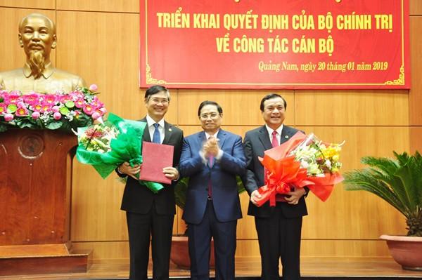 Công bố quyết định chuẩn y nhân sự Bí thư Tỉnh ủy Quảng Nam - Ảnh 1.