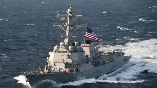 Mỹ bất ngờ khai màn tàu chiến qua eo biển Đài Loan - Ảnh 1.