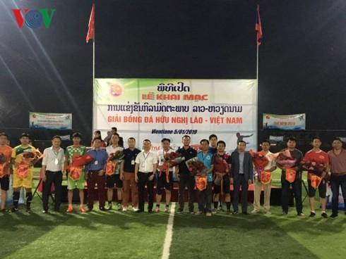 Khai mạc Giải bóng đá hữu nghị Lào – Việt Nam Vientiane 2019 - Ảnh 1.