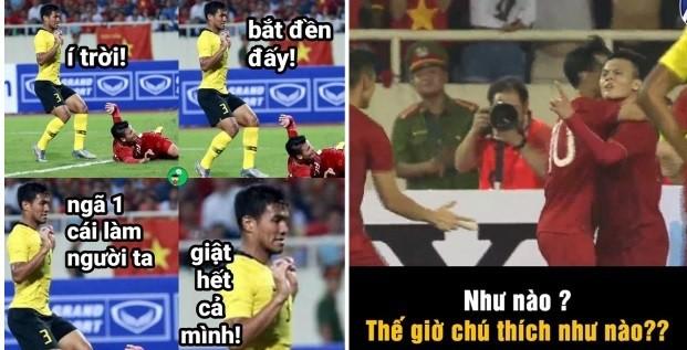 Chiến thắng của ĐT Việt Nam và cầu thủ Malaysia bỗng trở thành ảnh chế siêu hot trên mạng xã hội - Ảnh 5.