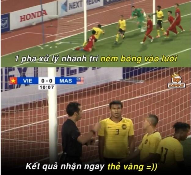 Chiến thắng của ĐT Việt Nam và cầu thủ Malaysia bỗng trở thành ảnh chế siêu hot trên mạng xã hội - Ảnh 7.