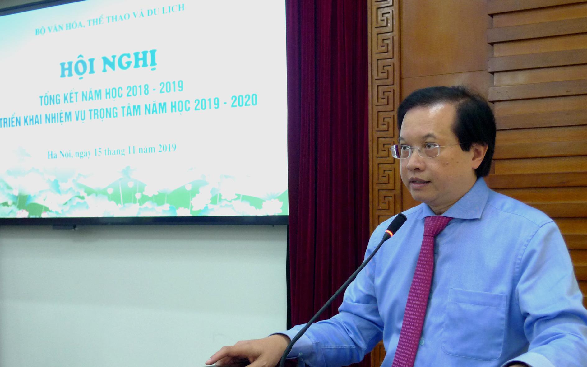 Hội nghị tổng kết năm học 2018-2019 và triển khai nhiệm vụ năm học 2019-2020 ngành VHTTDL