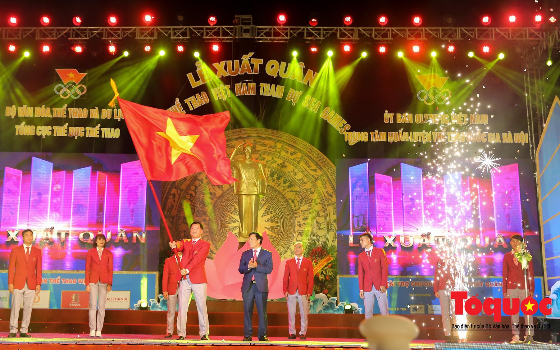 Chùm ảnh: Lễ xuất quân Đoàn Thể thao Việt Nam tham dự SEA Games 30