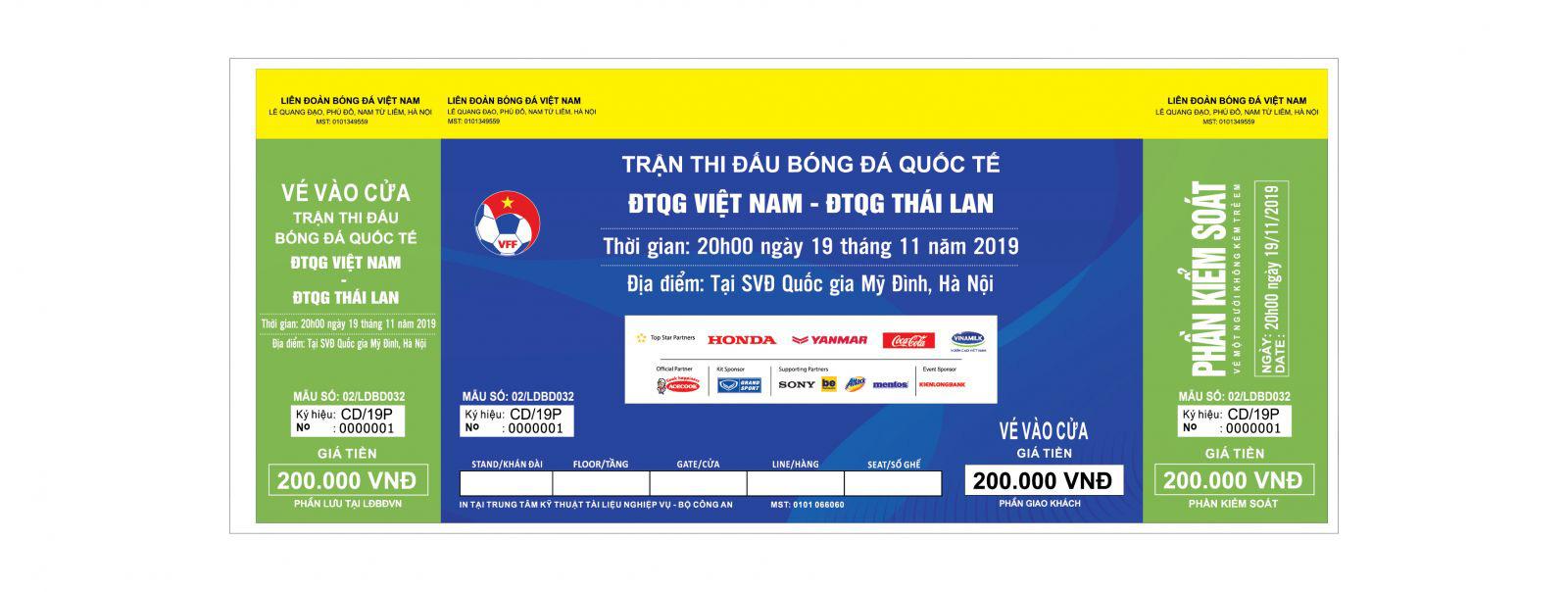 Phân biệt vé giả trận đấu giữa ĐT Việt Nam - ĐT Thái Lan: Cẩn thận tiền mất tật mang - Ảnh 2.