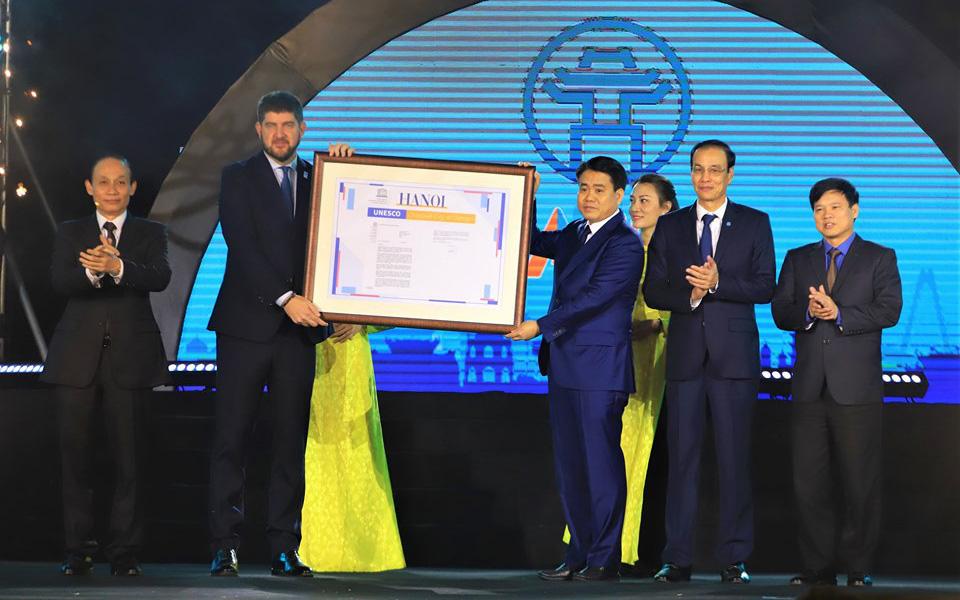 Hà Nội công bố gia nhập Mạng lưới các thành phố sáng tạo của UNESCO