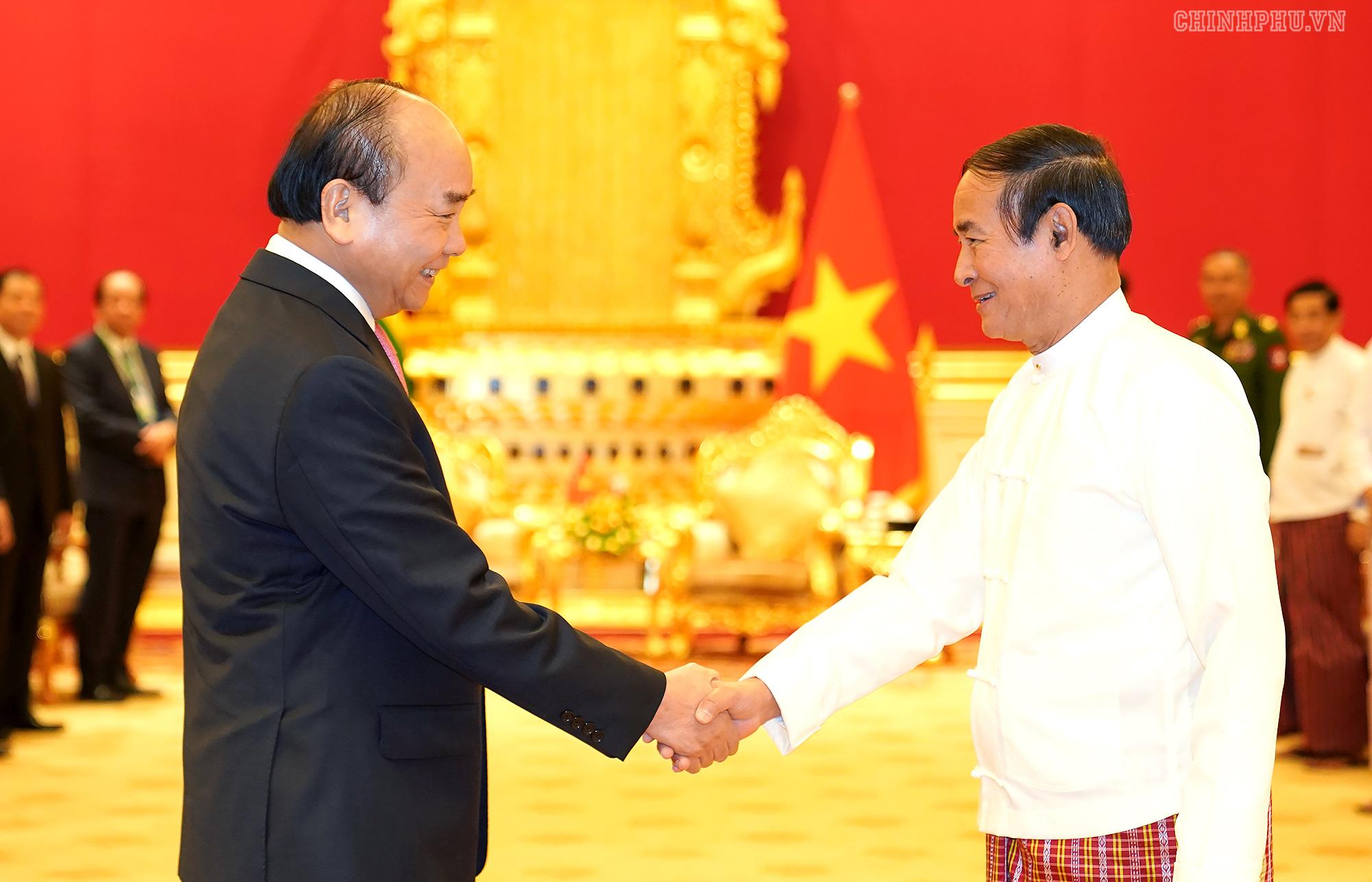 Thủ tướng Nguyễn Xuân Phúc hội kiến với Tổng thống Myanmar - Ảnh 1.