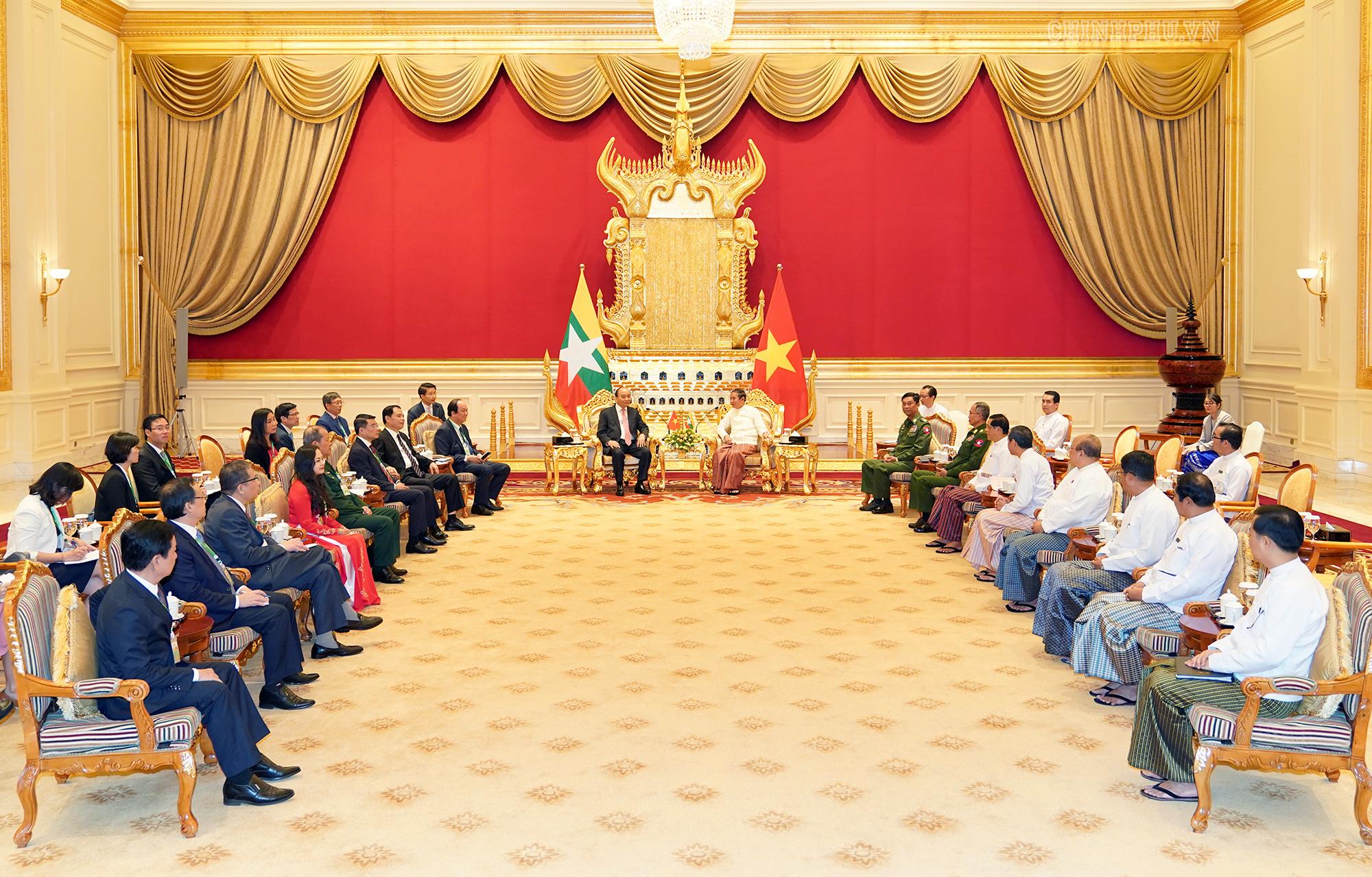 Thủ tướng Nguyễn Xuân Phúc hội kiến với Tổng thống Myanmar - Ảnh 2.
