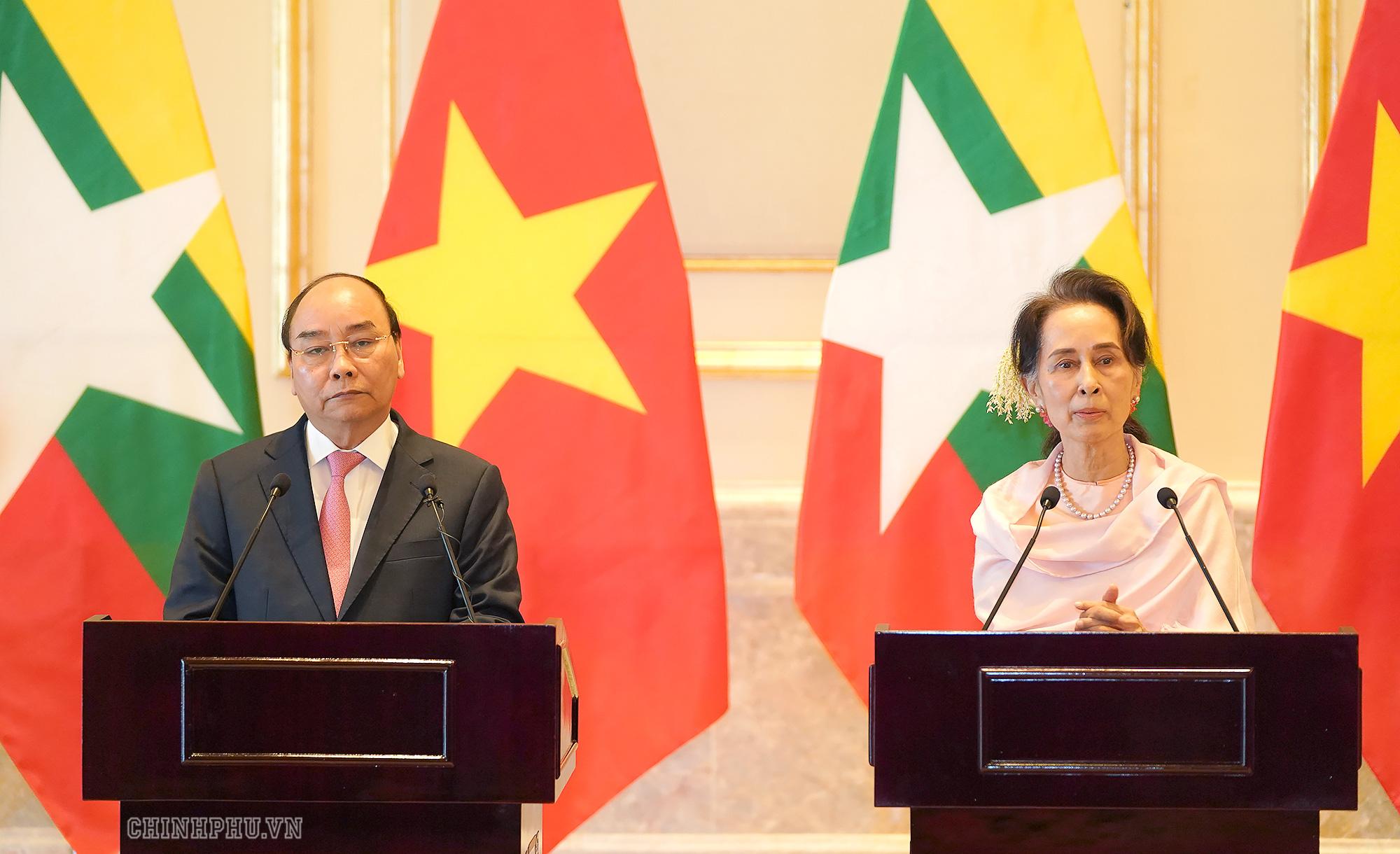 Cố vấn Nhà nước Myanmar ấn tượng với những thành tựu phát triển kinh tế Việt Nam - Ảnh 1.