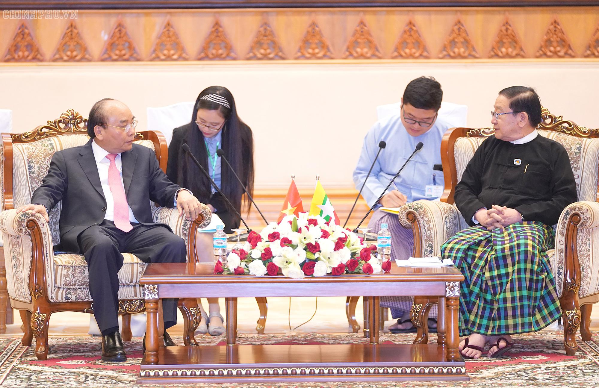 Chủ tịch Quốc hội Myanmar mong muốn Việt Nam chia sẻ kinh nghiệm phát triển kinh tế - Ảnh 1.