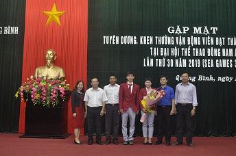 Quảng Bình vinh danh vận động viên đạt thành tích xuất sắc tại SEA Games 30 - Ảnh 2.