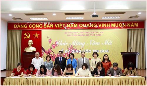 Thư viện Quốc gia Việt Nam tổ chức gặp mặt đầu Xuân 2019 và Lễ Ký giao ước thi đua - Ảnh 1.