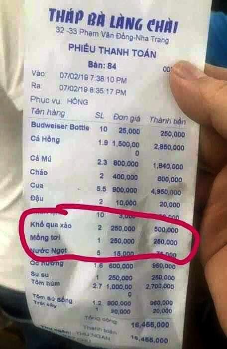 Nha Trang: Xử phạt đối với chủ nhà hàng Tháp Bà Làng Chài chặt chém khách du lịch - Ảnh 1.