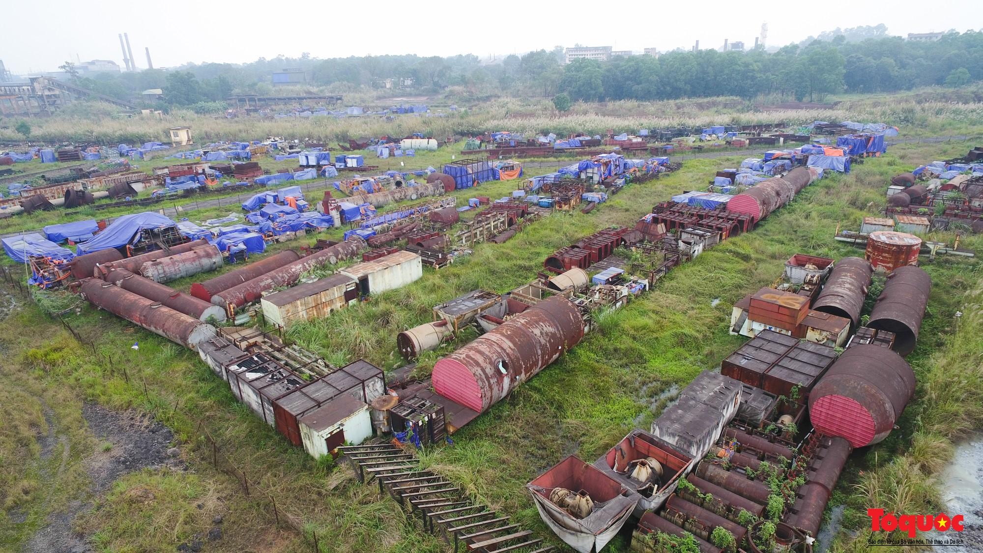 Sự hoang tàn, đắp chiếu bên trong dự án 8.100 tỉ đồng của Công ty Gang thép Thái Nguyên nhìn từ Flycam - Ảnh 4.