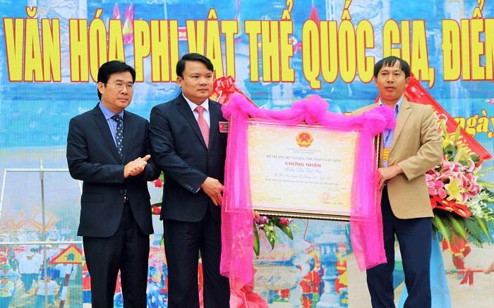 Nghệ An: Lễ hội Đền Quả Sơn đón nhận danh hiệu Di sản văn hóa phi vật thể Quốc gia