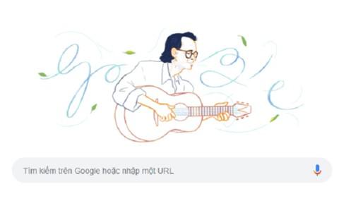 Nhạc sĩ Trịnh Công Sơn được Google Doodles vinh danh  nhân kỷ niệm 80 năm ngày sinh - Ảnh 1.