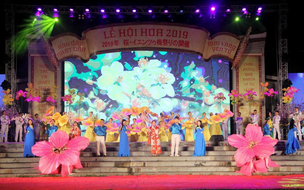 Khai mạc Lễ hội hoa Anh đào - Mai vàng Yên Tử 2019