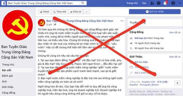 Ban Tuyên giáo Trung ương bị giả mạo tài khoản Facebook - Ảnh 1.