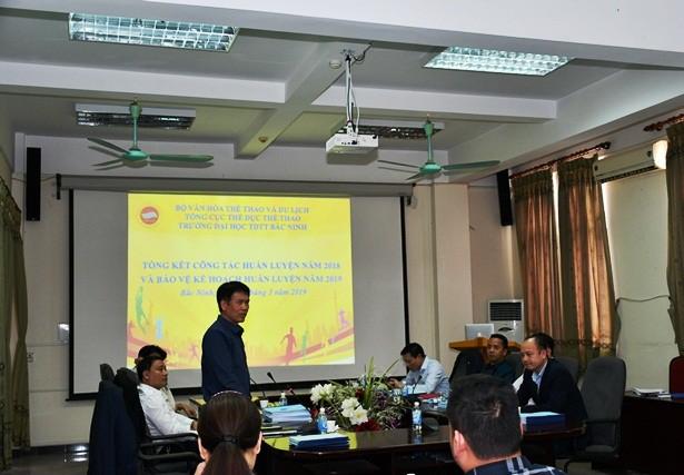 Trường Đại học Thể dục Thể thao Bắc Ninh: Tổng kết công tác huấn luyện năm 2018 và bảo vệ kế hoạch năm 2019 - Ảnh 1.