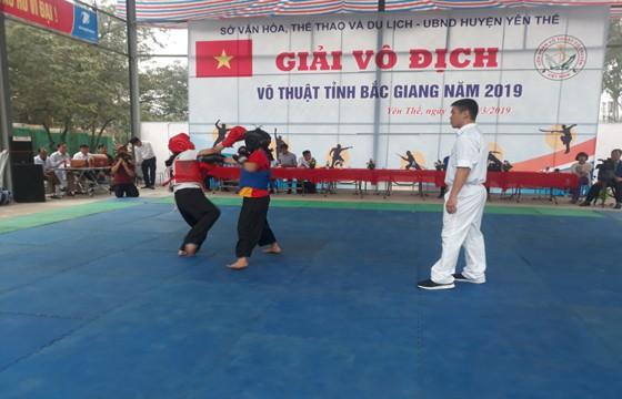 Giải vô địch võ thuật tỉnh Bắc Giang 2019 - Ảnh 1.