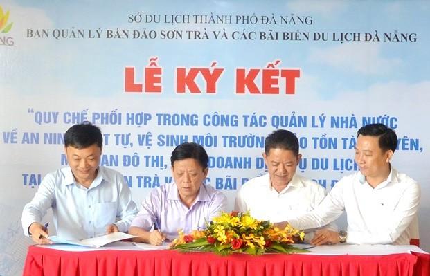 Ký kết quy chế phối hợp vì mục tiêu xây dựng điểm đến Đà Nẵng an toàn và mến khách - Ảnh 1.