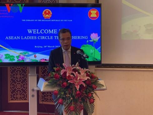 Đại sứ quán Việt Nam tại Trung Quốc tổ chức giao lưu Phụ nữ ASEAN - Ảnh 1.