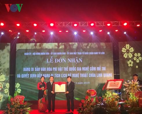 Cốm Mễ Trì được đón nhận bằng Di sản văn hóa phi vật thể Quốc gia - Ảnh 1.