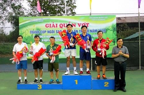 Cao Bằng: Giải quần vợt tranh Cúp Ngôi sao xanh năm 2019 - Ảnh 1.