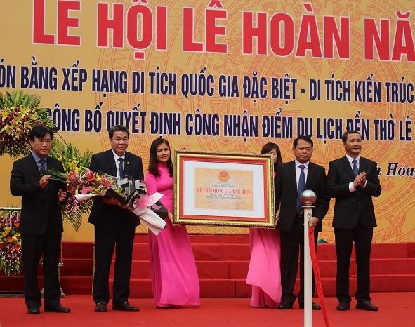 Thanh Hóa: Khai hội lễ hội Lê Hoàn 2019 và đón Bằng Di tích Quốc gia đặc biệt - Ảnh 1.