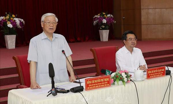 Tổng Bí thư, Chủ tịch nước Nguyễn Phú Trọng làm việc với lãnh đạo chủ chốt tỉnh Kiên Giang - Ảnh 1.